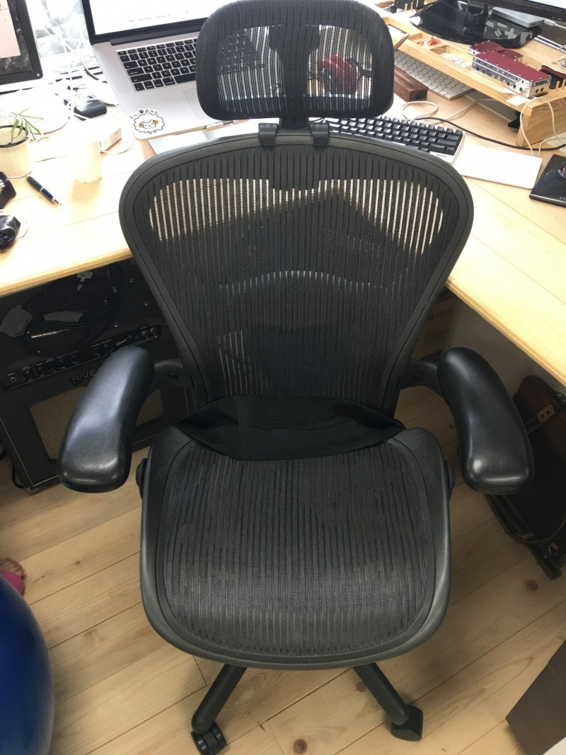 ショートスリーパーの椅子・アーロンチェア