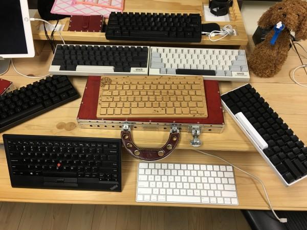 木のキーボードやLenovoキーボードなど